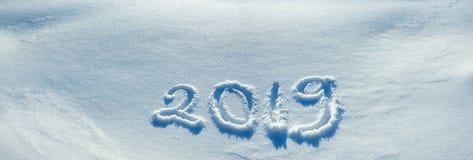 Texto na neve 2019 imagem de stock