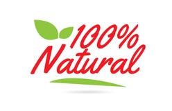 Texto natural de la palabra escrita de la mano del 100% para el diseño de la tipografía en rojo stock de ilustración