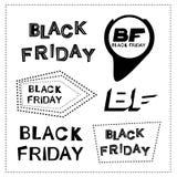Texto negro del negro de viernes fotografía de archivo libre de regalías