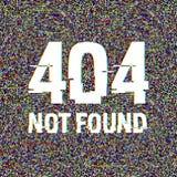 Texto no encontrado de la interferencia 404 Efecto del anáglifo 3D Fondo retro tecnológico Web disconnected, mensaje del fallo de stock de ilustración