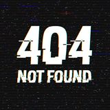 Texto no encontrado de la interferencia 404 Efecto del anáglifo 3D Fondo retro tecnológico Web disconnected, mensaje del fallo de libre illustration