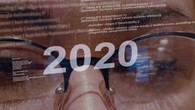 texto 2020 no fundo do colaborador f?mea filme