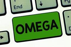 Texto Omega de la escritura de la palabra El concepto del negocio para la clase de ácidos grasos esenciales baja los niveles de c fotos de archivo