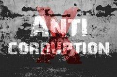 Texto para la corrupción anti en fondo del grunge Fotografía de archivo libre de regalías