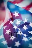 Texto 9/11 para os ataques do 11 de setembro Fotografia de Stock Royalty Free