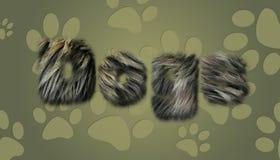 Texto peludo do cão Imagem de Stock Royalty Free