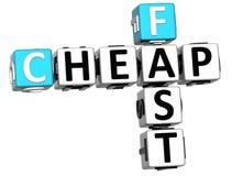 texto rápido barato das palavras cruzadas 3D Fotografia de Stock Royalty Free