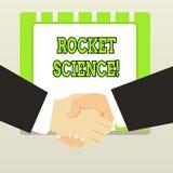 Texto Rocket Science da escrita Atividade difícil do significado do conceito que você precisa de ser inteligente fazer ilustração royalty free