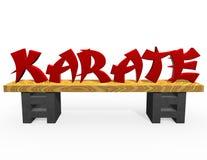 Texto rojo del karate Foto de archivo