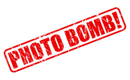 Texto rojo del sello de la bomba de foto Imagen de archivo libre de regalías