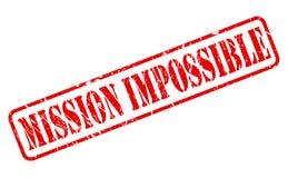 Texto rojo del sello de la misión imposible Foto de archivo libre de regalías
