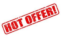 Texto rojo del sello de la oferta caliente Imagen de archivo libre de regalías