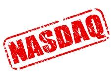 Texto rojo del sello de NASDAQ libre illustration