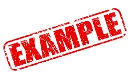 Texto rojo del sello del ejemplo Imagen de archivo libre de regalías