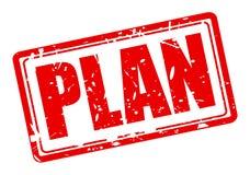 Texto rojo del sello del plan Fotografía de archivo