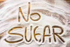 Texto sem o açúcar fotografia de stock