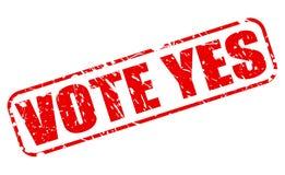 Texto sim vermelho do selo do voto Imagens de Stock