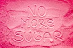 Texto sin más azúcar imagen de archivo libre de regalías
