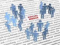 Texto SOCIAL da página da rede dos povos das palavras dos MEDIA Fotografia de Stock Royalty Free