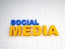 texto social de los media 3d Fotografía de archivo libre de regalías