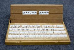Texto: Sprachen lernen Fotografía de archivo