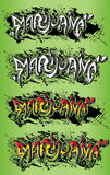 Texto sucio de la pintada de la textura del diseño del pote de la mala hierba de la marijuana Imagen de archivo