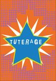 Texto Tuterage de la escritura Concepto que significa la protección de o la autoridad sobre alguien o algo tutela confinada stock de ilustración