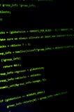 Texto verde do hacker no preto Foto de Stock Royalty Free