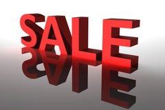 Texto vermelho da venda 3D ilustração royalty free