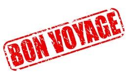 Texto vermelho do selo do bon voyage Foto de Stock