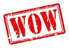 Texto vermelho do selo do wow Imagem de Stock