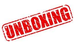 Texto vermelho Unboxing do selo Imagem de Stock