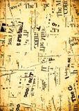 Textos de papel da notícia ilustração do vetor