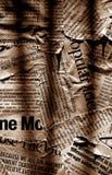 Textos de papel de las noticias imagen de archivo libre de regalías