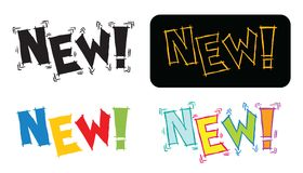 Textos novos Imagens de Stock Royalty Free