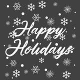 Textotez bonnes fêtes pour la célébration d'hiver de Noël et de la nouvelle année calligraphie illustration de vecteur