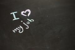 Textotez l'amour d'I mon travail écrit avec la craie Image libre de droits