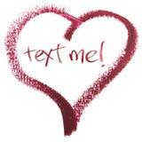 Textotez-moi message dans la forme de coeur Photo stock