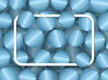 Textrahmen auf Ball des Hintergrundes 3d Muster der Gemeinschaft mit Winkel des Leistungshebels stock abbildung