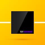 Textrahmen des schwarzen Quadrats auf hellem gelbem Hintergrund in der modernen Unternehmensart EPS10 Stockfotografie