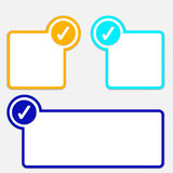 Textrahmen mit Auswahlkästchen Lizenzfreie Stockfotos