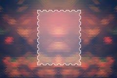 Textram på kulör abstrakt triangelbakgrund Arkivbild