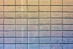 Textrure of tile old wall Royalty Free Stock Photos