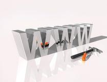 Textsilber des Webs 3D lizenzfreie abbildung