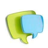 Textsprache-Luftblasenikone getrennt Stockfotos