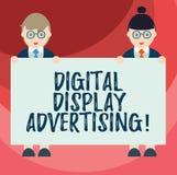Texttecken som visar annonsering för Digital skärm Det begreppsmässiga fotoet framför ett kommersiellt meddelande genom att använ stock illustrationer