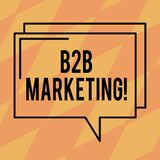 Texttecken som visar B2B marknadsföringen Begreppsmässig fotoaffär till översikten för kommers för kommersiella transaktioner för vektor illustrationer