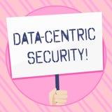 Texttecken som visar data central säkerhet Begreppsmässigt foto att identifiera och skydda data, varhelst det bor handinnehavet vektor illustrationer
