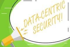 Texttecken som visar data central säkerhet Begreppsmässigt foto att identifiera och skydda data, varhelst det bor vitt enormt f stock illustrationer