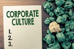 Texttecken som visar företags kultur Begreppsmässiga fototroar och idéer, som ett företag har delat, värderar royaltyfri fotografi